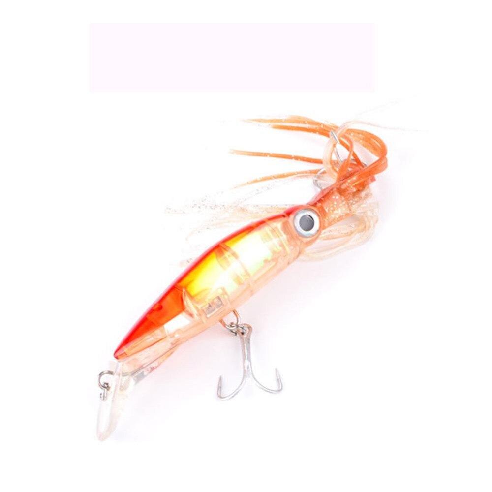 1 St Nieuwe Inktvis Vissen Lokken Baard 14 Cm 40g Minnow Vissen