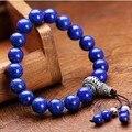 Подлинные лазурит браслет из бисера тибетский лазурит бусины браслет тибетский мала браслет лазурит мала браслет