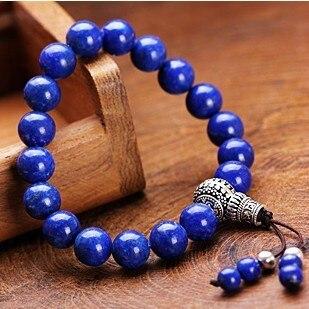 Genuine Lapis Lazuli Beaded Bracelet Tibetan Beads Mala
