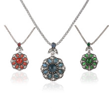 Hot Sale 2017 Trend Necklaces Pendants Jewelry Mosaic Crystal And Resin Necklaces For Women Elegant Gift cheap Fashion COYOZHOOF Y-0039 Pendant Necklaces Rope Chain geometric Vintage 38*25mm Zinc Alloy