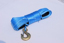 Blue 6mm*15m Winch Rope Hook,Kevlar Winch Cable,Boat Winch Rope,Synthetic Rope
