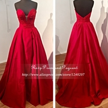 New Arrival Cheap Floor Length Gowns Sweetheart Neck Off The Shoulder Pleated Mermaid Red Long Elegant Prom Dresses 2017