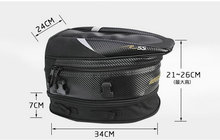 new RR9014 tail bag motorcycle rear seat bag / car tail bag / bags / send rain cover for free/ Black 18.5 liters