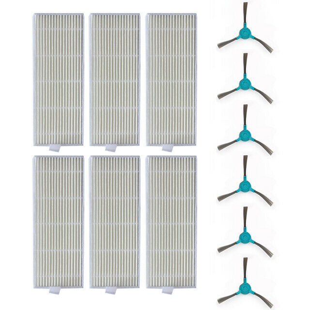 Replacement Side Brushes Filters For Conga 1290 1390 Vacuum Cleaner Spare Parts