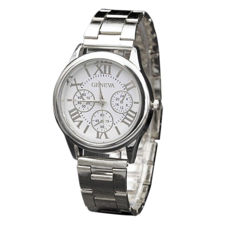 Womens watches silver quartz watch Stainless Steel Sport Quartz Hour Wrist Analog Watch Bracelet relogio feminino M03*YL