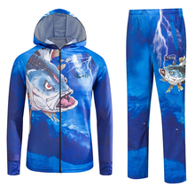 Summer Outdoor Men Fishing Clothing Hiking Camping Clothes Shirt Suit UV Protection