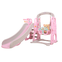 Multifunction Eco friendly Height Adjustable Sliders with Safety Seat Extended Slippery Slider Combined Swing Basketball Stand