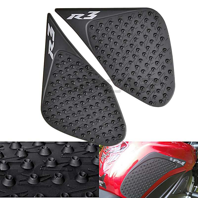 Fuel Tank Traction Side Pad Protector Decal For Yamaha YZF R25 R3 2015 2016