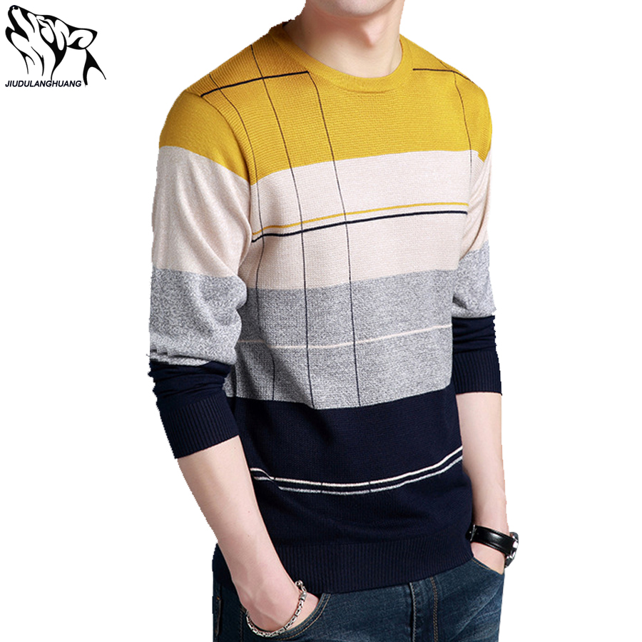 2018 Sweater Pullover Man Sueters Hombre Long Sleeve Young Mens Bottom Knitwear Thin Section Round Collar Strickereien Men