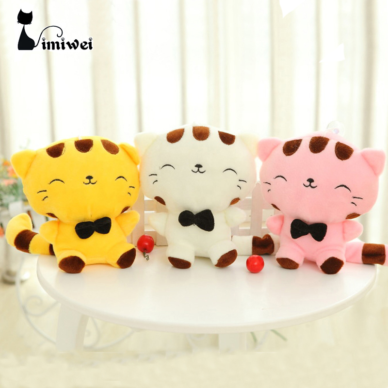 18 45CM Include Tail Cute Large Face Cat Plush Stuffed Toys Pillow Birthday Gift Cushion Fortune