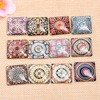 Onwear 20pcs Mix Image Photo Square Glass Cabochon 25mm Handmade Diy Flatback Accessories For Jewelry Making