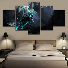 Print Paintings Pictures Wall Art Modular 5 Set The Witcher 3 Wild Hunt Canvas Game Posters Modern Bedside Home Decor Background(China)