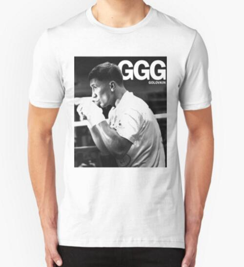 Free Shipping 2016 summer hot GGG Gennady Golovkin T Shirts Men Cotton O Neck t shirt Short Sleeve Euro Size Mens