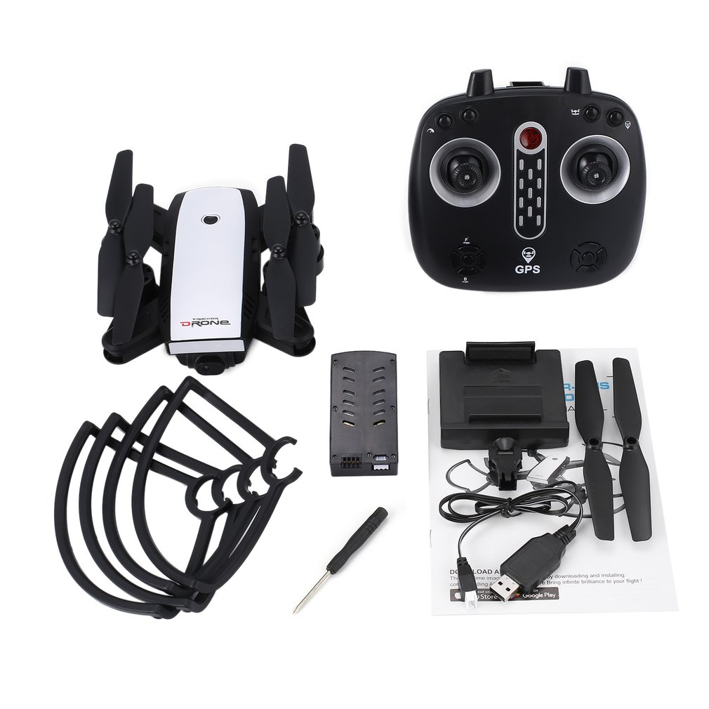 X28 Quadcopter 2.4G RC drone with Adjustable 720P HD Camera FPV Foldable GPS RC Quadcopter Real-time Altitude Hold Follow Me multi in 1 micro usb otg 2 0 hub sd hc tf card reader mobile phone stand champagne