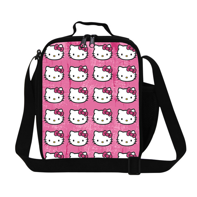 Dispalang peppy style 3D cartoon hello kity lunch cooler bags for girls  thermal lunch box for b5eca57966daf