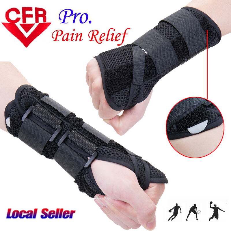 2018 New Carpal Tunnel Medical Wrist Support Brace Support Pads Sprain Forearm 2 Splints ...