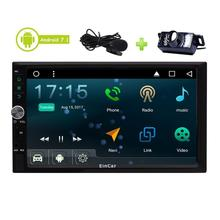 Android 7.1 Stereo Auto Radio 3D GPS Sat Navigation Bluetooth External Microphone Include Head Unit Car Player + Backup Camera
