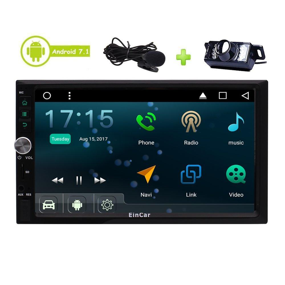 US $213 74 5% OFF|Android 7 1 Stereo Auto Radio 3D GPS Sat Navigation  Bluetooth External Microphone Include Head Unit Car Player + Backup  Camera-in
