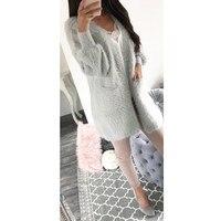 2017 Knitted Shrug Sweater Women Autumn Winter Fashion Tricot Warm Jumper Sweater Oversize Shawl Mohair Cardigan