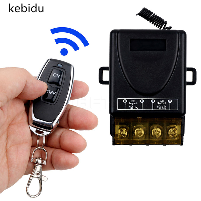 kebidu 110V 240V 30A Relay Wireless RF Smart Remote Control Switch Transmitter+ Receiver 433MHz Remote controller