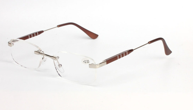 5451b102aa0c High quality aluminum magnesium alloy Frameless Presbyopic Glasses gafas de  lectura Unisex reading glasses 100-350