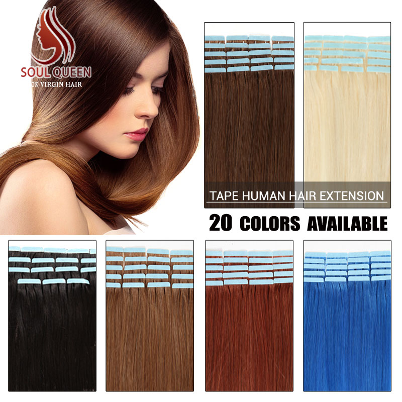 Wholesale Remy Tape Hair Extensions 20pcslot 16 24inch Tape In