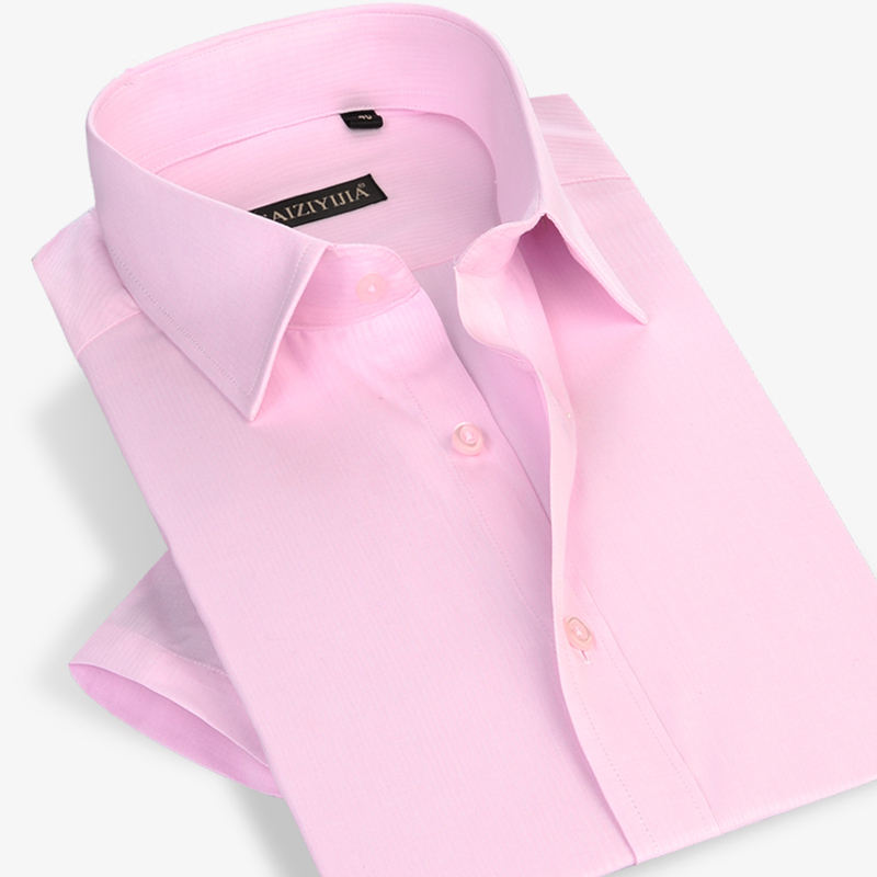 Fashion Formal Business Men Dress Shirt Short Sleeve Famous Brand ...