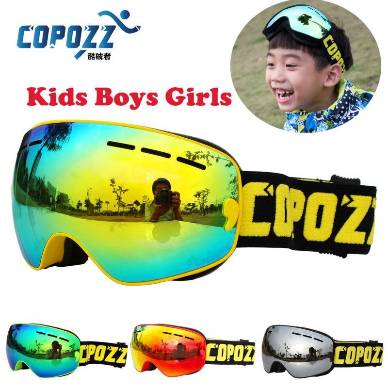 COPOZZ Kids Ski Goggles Small Size for Children Double UV400 anti fog mask glasses skiing Girls