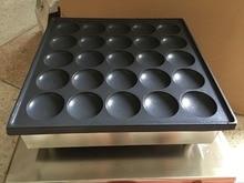 Бесплатная доставка 25 шт. коммерческих 110 В 220 В голландский Poffertjes мини блины Maker машина Бейкер пластины