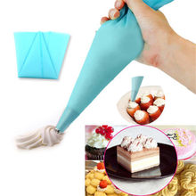 LINSBAYWU 1 piece 4 Sizes reusable silicone icing piping cream pastry bag dessert decorators cake cupcake decorating tools(China)