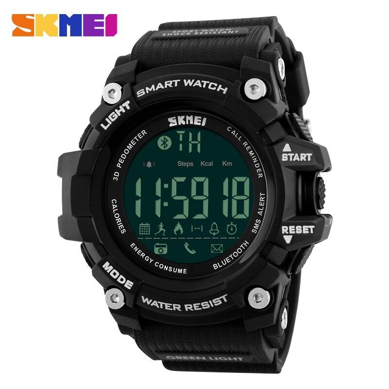 2dede73b291 SKMEI Homens Relógio Inteligente Pedômetro Contador de Calorias Moda relógio  Cronógrafo Display LED Relógio Digital Relógios Desportivos Ao Ar Livre em  ...