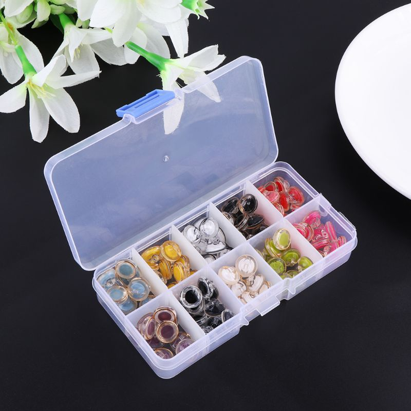 Good Quality New 100Pcs Plastic Safety Eyes Button Sew On Bear Doll Animal Stuffed Plush Toys DIY Hand Sewing Accessories in Dolls Accessories from Toys Hobbies