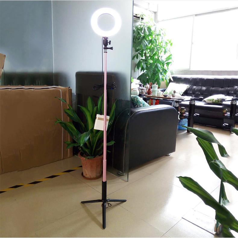 Dimmable LED Studio Camera Ring Light Photo Phone Video Light Annular Lamp With Tripods Selfie Stick Ring Fill Light For Canon - ANKUX Tech Co., Ltd