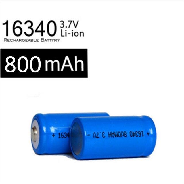 2 x Перезаряжаемые CR123A 16340 800 мАч 3,7 В литий-ионный аккумулятор