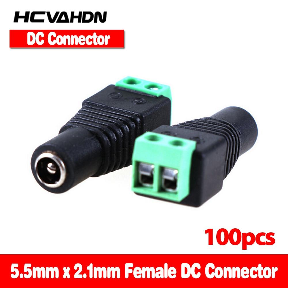 HCVAHDN 100Pcs/ lot Mini Coax CAT5 To Camera CCTV BNC UTP Video Balun Connector Adapter BNC Plug For CCTV System 5 5 2 1mm dc connector cctv utp cable power plug adapter cable dc ac 2 camera video balun connector