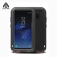 For Samsung Galaxy S8 Case 360 Full Protection Shell Shockproof Metal Silicone Armor Cover For Samsung