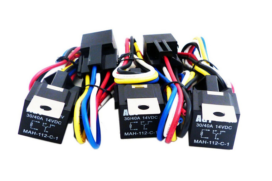 5 Pack  Car Automotive 12v 40a Agt 30  40 Amp Relay