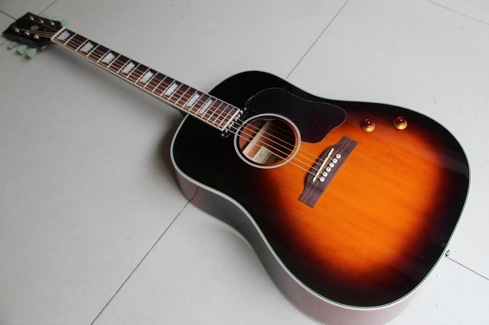 wholesale 160 vintage vs acoustic electric guitar john lennon sunburst j160 acoustic guitar with. Black Bedroom Furniture Sets. Home Design Ideas