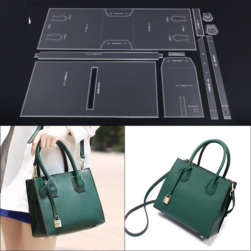 Laser Cut Acrylic Template Pattern For DIY Handmade Shoulder Bag Leather Craft Sewing Pattern Sewing Stencils