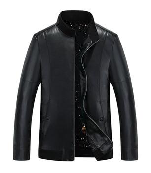 8016 men's leather coat Stand collar youth Slim Thin genuine leather jacket Polish Man Spring &Autumn Jacket Coat
