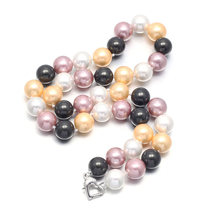 Shell Pearl Necklace Jewelry 10mm Round Pearls High Luster Top for Women Gift