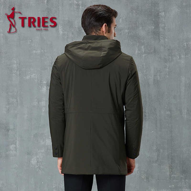 Пытается Новый плащ Мужская зимняя куртка мужчин прохладный мужское длинное пальто наивысшего качества ветровка мужская trenchcoat мужские накидка готический Мужчины