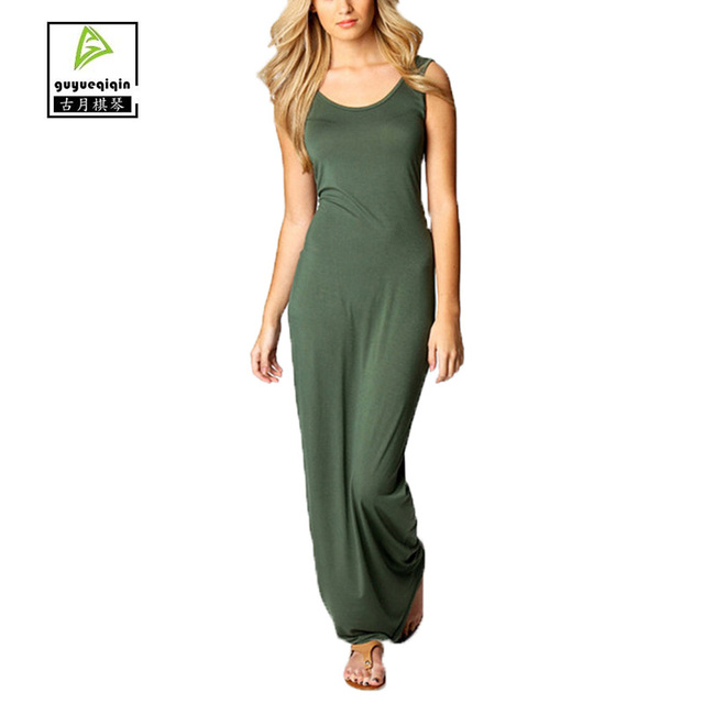 Long Solid Color Sundresses