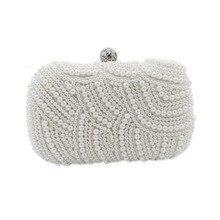 2016 beutel Neue Perle diamant-abendtasche clutch Chains weiße tasche Frauen Perle Kupplung partei geldbörsen Wunderschönen Braut Hochzeit W09