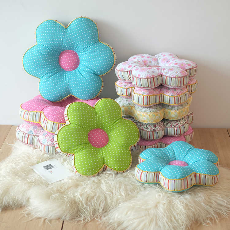 Flower Shape Throw Pillows Almofadas,Cheap Car Seat Cushions Home Decor,Thicken Office Chair Cushion Decorative Pillows for Sofa