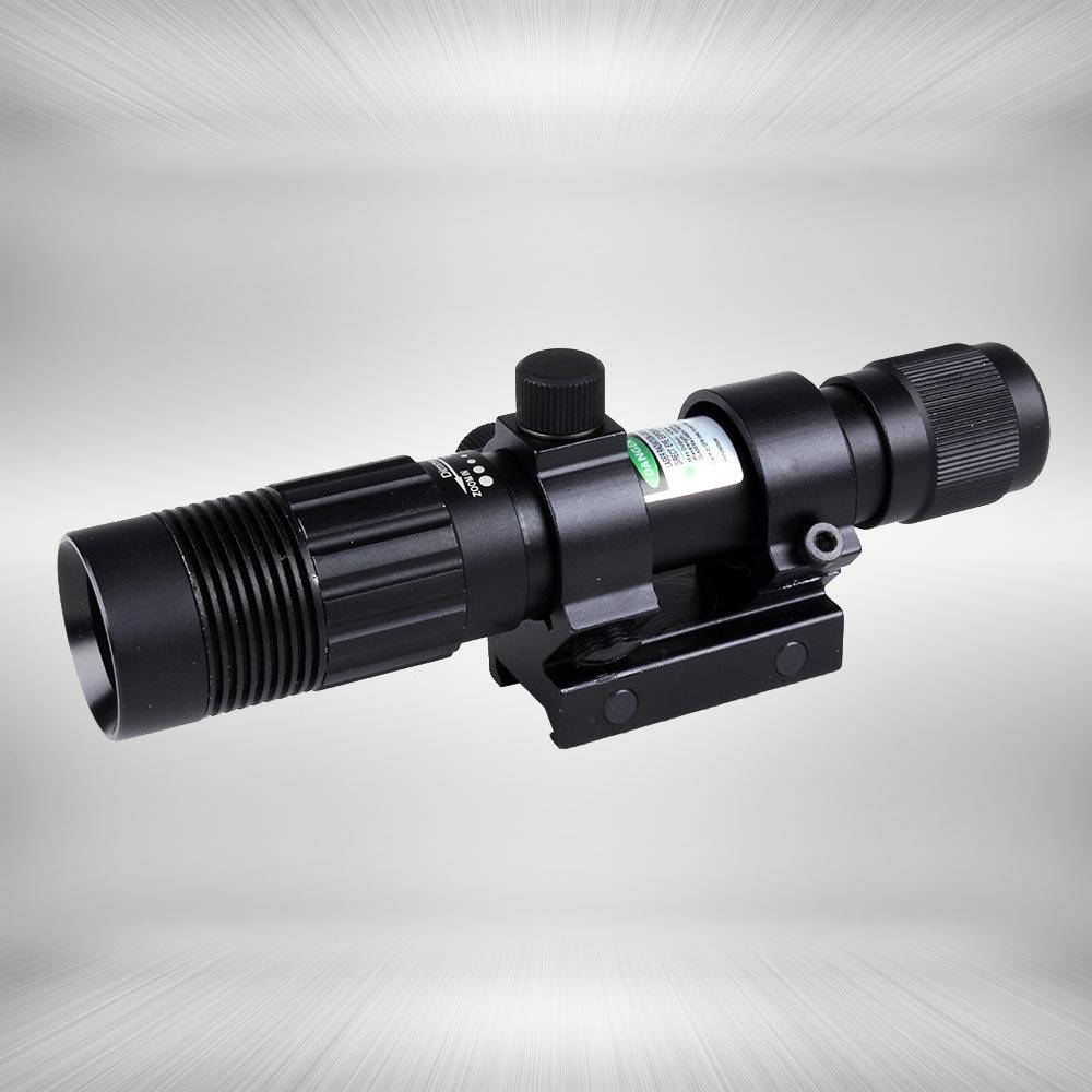 Tactical Ajustável âmbito Verde Visão Laser Designador Lanterna Luz Dot Para Ajustar a Luz Com Interruptor de Pressão Remoto de Montagem