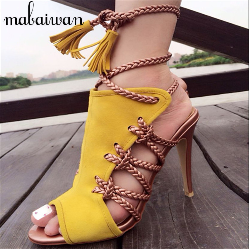 Popular Yellow Strappy Heels-Buy Cheap Yellow Strappy Heels lots