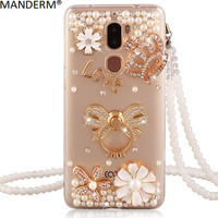 Hot Cat Case Cover For Letv Leeco Cool 1 Case Rhinestone Stand Holder For Letv 1