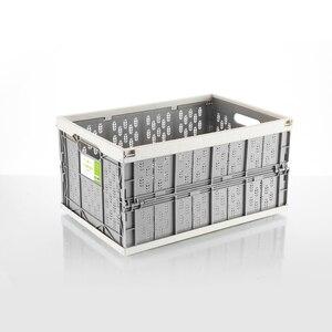 Image 1 - Auto auto falten lagerung box auto organizer Multi funktion Kunststoff auto schutt lagerung box trunk organizer reise freeshipping