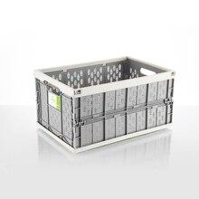 Auto carro dobrável caixa de armazenamento organizador Multi função do carro carro de Plástico caixa de armazenamento de detritos tronco organizador de viagem freeshipping